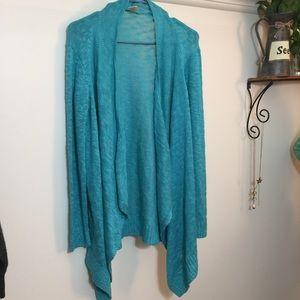 Knit Waterfall Cardigan! Pretty Teal Blue
